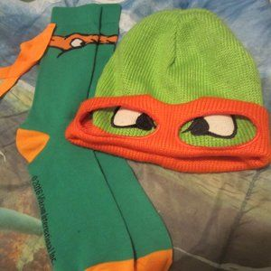 Viacom International INC Costumes - Teeanage Mutant Ninja Turtle Beenie and Socks